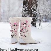 """Обувь ручной работы. Ярмарка Мастеров - ручная работа """"Сакура"""". Handmade."""