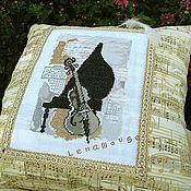 """Для дома и интерьера ручной работы. Ярмарка Мастеров - ручная работа Подушка """"Музыкальный дуэт"""". Handmade."""