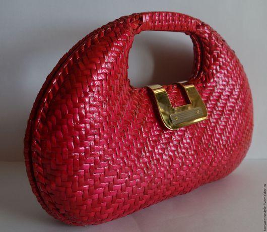 Женские сумки ручной работы. Ярмарка Мастеров - ручная работа. Купить Сумка клатч. Handmade. Ярко-красный, винтажный клатч