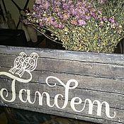 Для дома и интерьера ручной работы. Ярмарка Мастеров - ручная работа Табличка-вывеска деревянная с логотипом фирмы. Handmade.