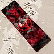 "Канцелярские товары ручной работы. Ярмарка Мастеров - ручная работа Закладка ""Fire and blood"". Handmade."