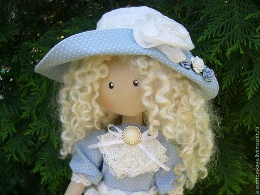 Коллекционные куклы ручной работы. Ярмарка Мастеров - ручная работа. Купить Интерьерная кукла Бланш с куклой. Handmade. Голубой