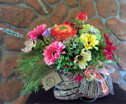 Цветы ручной работы. Ярмарка Мастеров - ручная работа. Купить Башмак с искусственными цветами. Handmade. Отличный подарок, необычный подарок