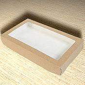 Коробки ручной работы. Ярмарка Мастеров - ручная работа Коробка картонная с прозрачным окном. Handmade.