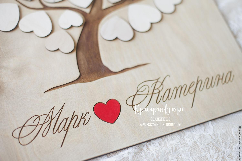 Дерево поздравлений на свадьбу