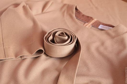 Платья ручной работы. Ярмарка Мастеров - ручная работа. Купить Платье цвета Camel. Handmade. Бежевый, прямой силуэт, dress