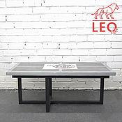 Столы ручной работы. Ярмарка Мастеров - ручная работа Журнальный столик с вашим рисунком/лого LF-050. Handmade.