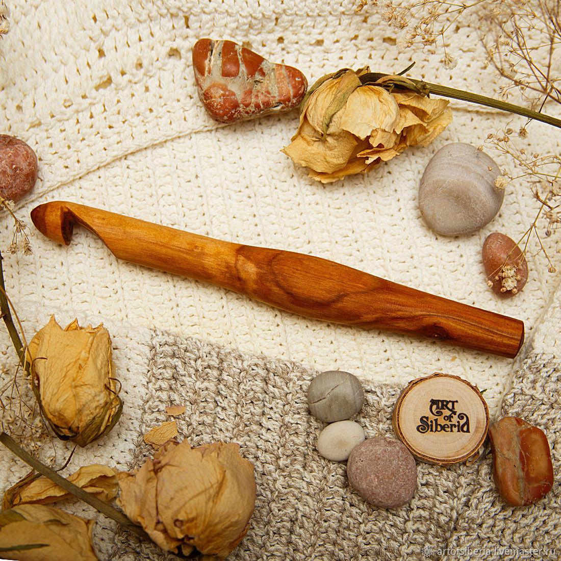 Деревянный Крючок для вязания 16 мм Вишня Крючки из дерева #K61, Инструменты для вязания, Новокузнецк, Фото №1