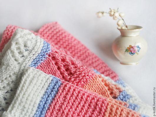 Пледы и одеяла ручной работы. Ярмарка Мастеров - ручная работа. Купить Детский плед Розовые сны-2. Handmade. Комбинированный