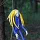 Коллекционные куклы ручной работы. summer sun. лесной дух, шаман. An. Интернет-магазин Ярмарка Мастеров. Синий, дреды