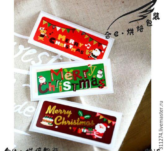 Упаковка ручной работы. Ярмарка Мастеров - ручная работа. Купить Новогодние наклейки. 20 шт. на листе.. Handmade. Комбинированный, наклейки