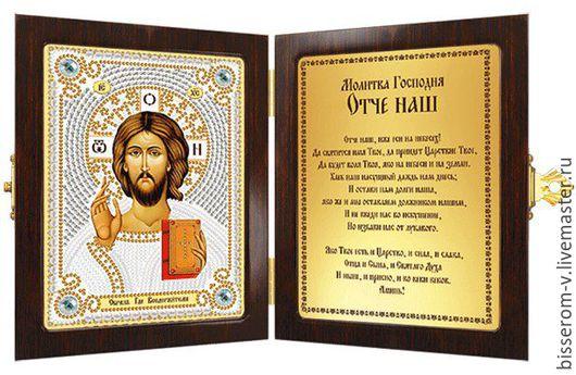 Иконы ручной работы. Ярмарка Мастеров - ручная работа. Купить Икона вышитая бисером Христос Спаситель. Handmade. Икона бисером