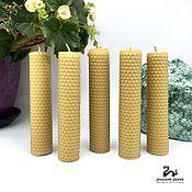 Свечи ручной работы. Ярмарка Мастеров - ручная работа Свеча Фотиния 13 х 3 см из вощины. Handmade.