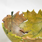 Посуда handmade. Livemaster - original item Bowl Autumn maple. Handmade.