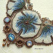 Украшения ручной работы. Ярмарка Мастеров - ручная работа Голубые цветы. Handmade.