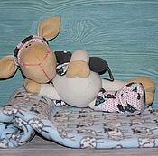Мягкие игрушки ручной работы. Ярмарка Мастеров - ручная работа Овечка-сплюшка. Handmade.