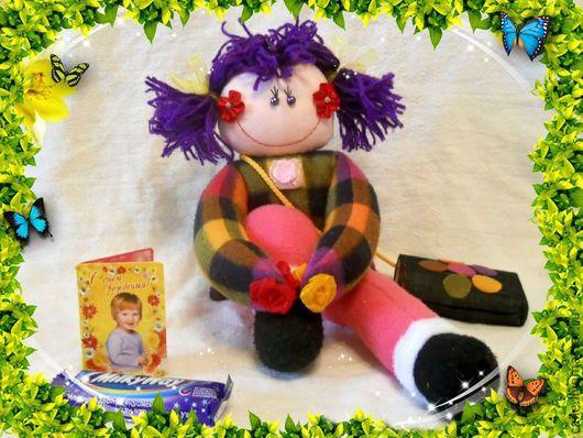 """Человечки ручной работы. Ярмарка Мастеров - ручная работа. Купить Кукла """"Обнимашка"""". Handmade. Кукла, развитие мелкой моторики, флис"""