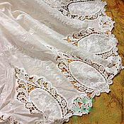 Материалы для творчества handmade. Livemaster - original item Fabric lace embroidery 100% cotton 3. Handmade.