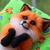 """Куклы и игрушки ручной работы. Ярмарка Мастеров - ручная работа Валяная игрушка: лисичка """"Эмми"""". Handmade."""