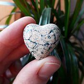 Украшения handmade. Livemaster - original item Ceramic heart brooch. Handmade.