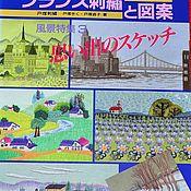 Материалы для творчества ручной работы. Ярмарка Мастеров - ручная работа Япония вышивка пейзаж. Handmade.