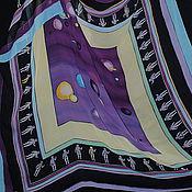 """Аксессуары ручной работы. Ярмарка Мастеров - ручная работа Большой шелковый платок """"Космос"""". Handmade."""