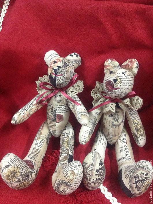 Куклы Тильды ручной работы. Ярмарка Мастеров - ручная работа. Купить мишка винтажный. Handmade. Коричневый, хлопок 100%
