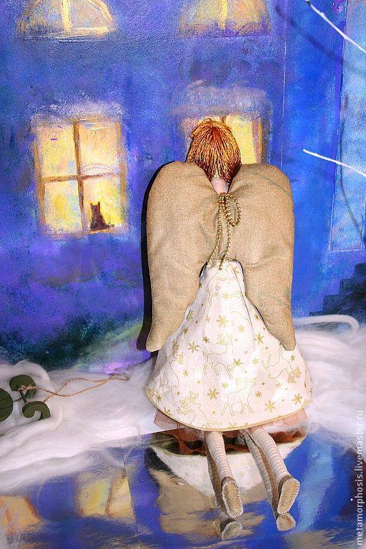 Куклы Тильды ручной работы. Ярмарка Мастеров - ручная работа. Купить Рождественский ангел Злата. Handmade. Золотой, рождественский подарок