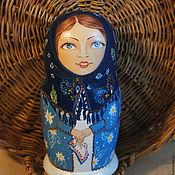 Русский стиль handmade. Livemaster - original item Girls in headscarves. Matryoshka.. Handmade.