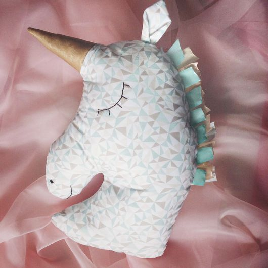 Игрушки животные, ручной работы. Ярмарка Мастеров - ручная работа. Купить Подушка Единорог - текстильная игрушка. Handmade. Радуга, радужный