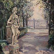 """Картины и панно ручной работы. Ярмарка Мастеров - ручная работа """"Летний сад """". Handmade."""