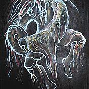 """Картины и панно ручной работы. Ярмарка Мастеров - ручная работа """" Молодой шаман"""". Handmade."""