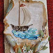 """Открытки ручной работы. Ярмарка Мастеров - ручная работа Открытка """"Весеннее путешествие"""". Handmade."""