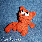Куклы и игрушки handmade. Livemaster - original item Garfield. Cat knitted. Red cat. Handmade.