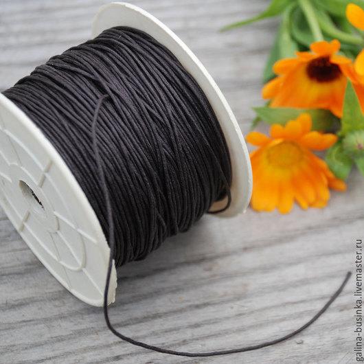 Для украшений ручной работы. Ярмарка Мастеров - ручная работа. Купить Вощеный шнур 1 мм коричневый. Handmade. Коричневый