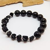 Украшения handmade. Livemaster - original item Sherl bracelet Crystals and satin stitch. Handmade.