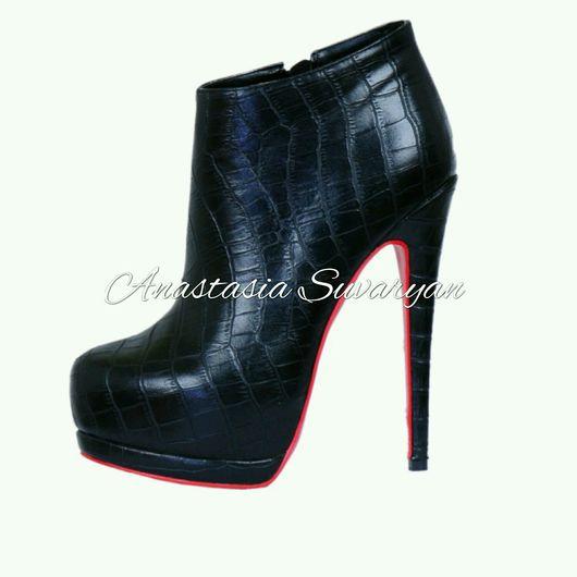 Обувь ручной работы. Ярмарка Мастеров - ручная работа. Купить Ботинки женские. Handmade. Ботинки, обувь женская, кожа