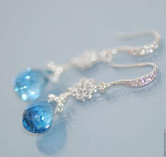 серьги со шпинелью; голубые серьги; красивые серьги; серьги в подарок; серьги голубые; купить серьги серебро; купить серьги в москве; купить серьги в подарок; подарок жене