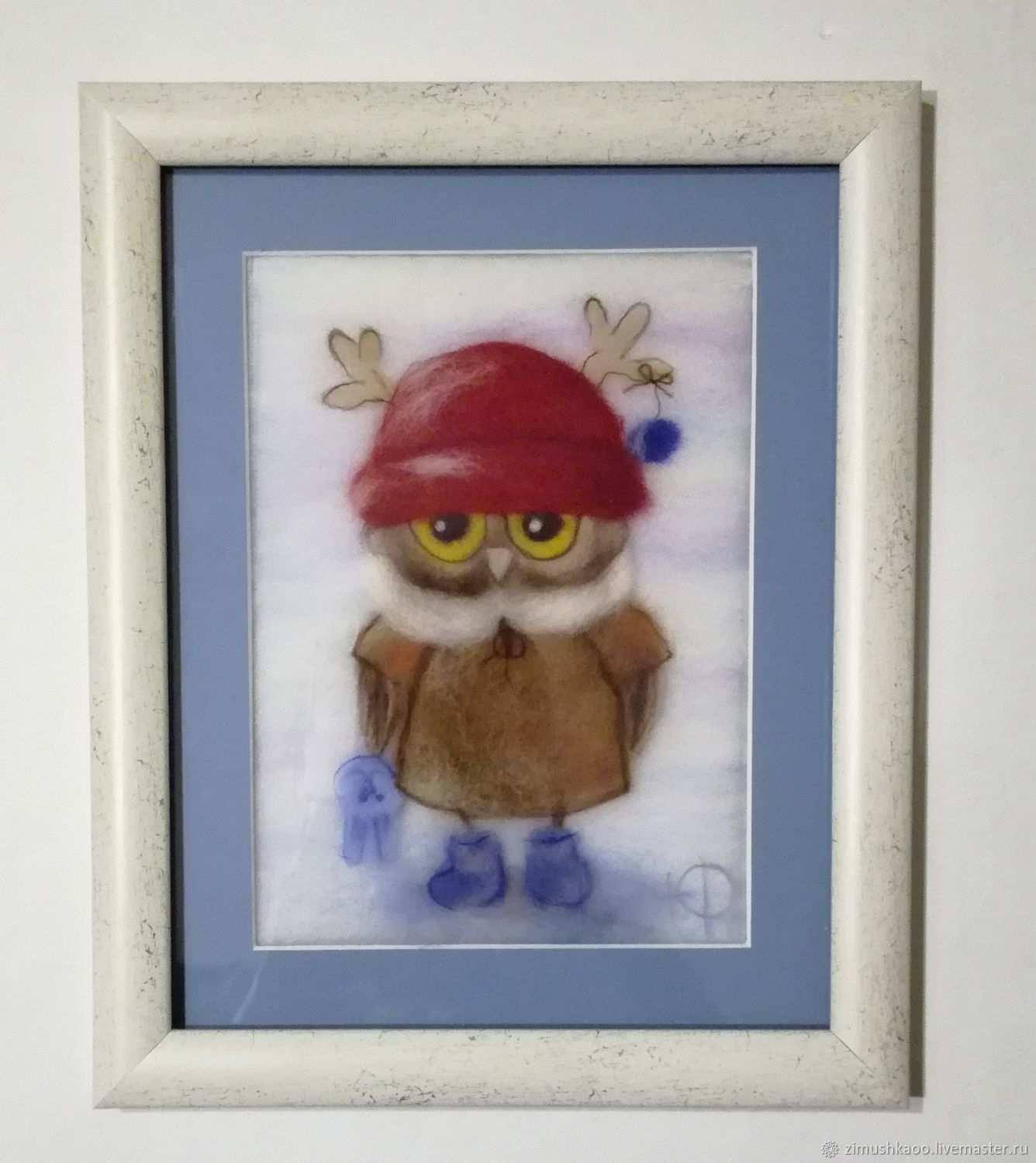 'Winter owl' wool Painting, Pictures, Bryansk,  Фото №1