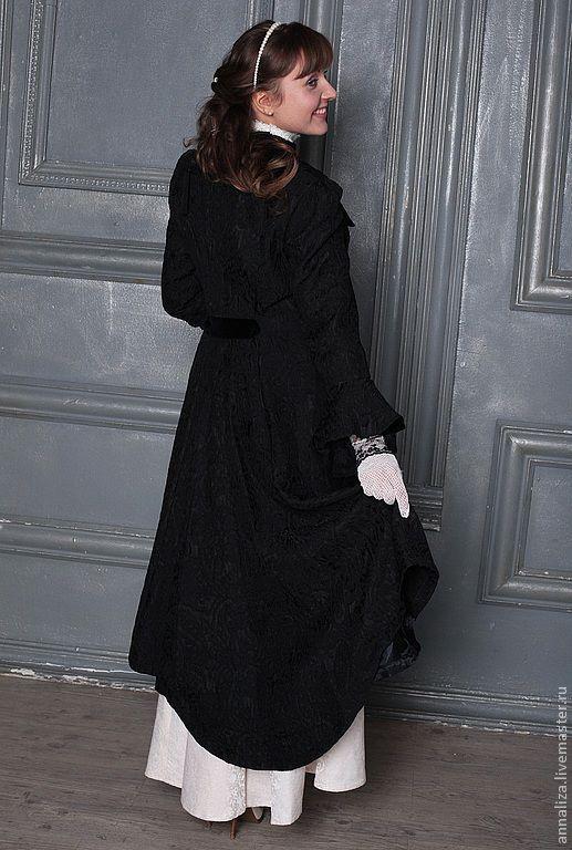 Верхняя одежда ручной работы. Ярмарка Мастеров - ручная работа. Купить Пальто в Викторианском стиле. Handmade. Пальто, текстурированная ткань
