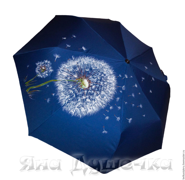 Umbrella Parasol Hand Painted Flowers Dandelions Shop