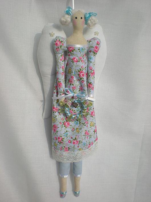 Куклы Тильды ручной работы. Ярмарка Мастеров - ручная работа. Купить Винтажный ангел. Handmade. Интерьерная кукла, лён
