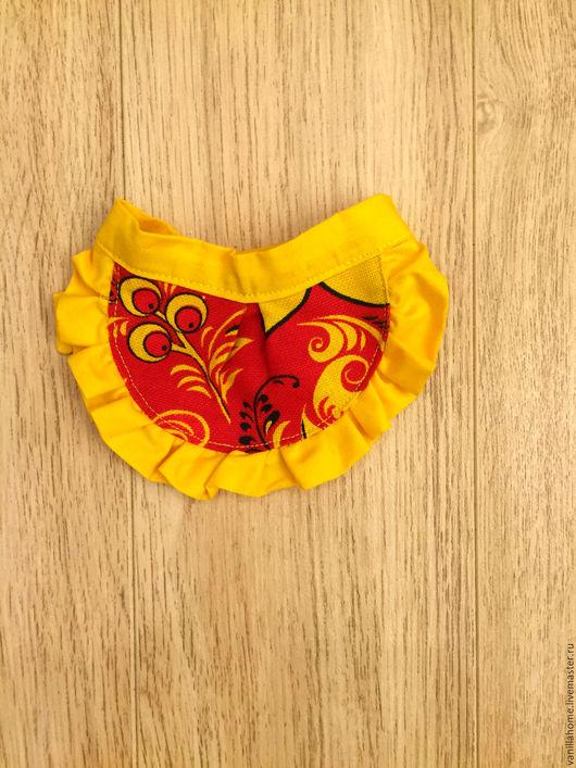 """Одежда для кукол ручной работы. Ярмарка Мастеров - ручная работа. Купить Фартук для куклы """"Хохлома"""". Handmade. Желтый, красный"""