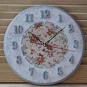 """Для дома и интерьера ручной работы. Ярмарка Мастеров - ручная работа Часы """" Вот моя деревня"""". Handmade."""