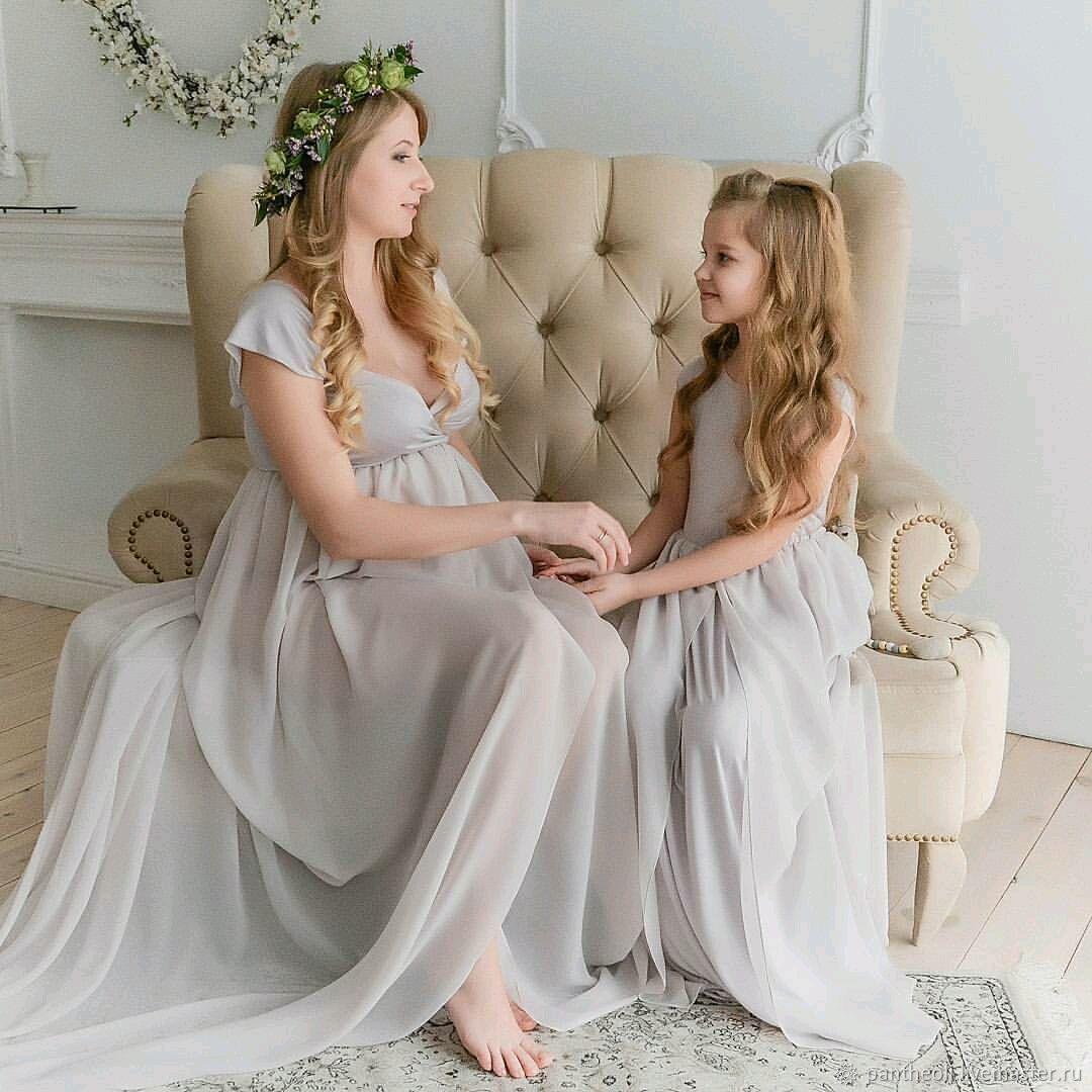 Платье для беременных, фотосессия мама и дочь – купить в интернет ... 531d86655cb