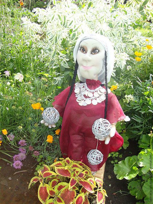"""Человечки ручной работы. Ярмарка Мастеров - ручная работа. Купить Кукла """"Восток..."""". Handmade. Бордовый, ручная работа, для интерьера"""