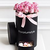 """Цветы и флористика ручной работы. Ярмарка Мастеров - ручная работа Букет из роз в шляпной коробке """"Роуз"""". Handmade."""