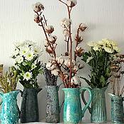 Для дома и интерьера ручной работы. Ярмарка Мастеров - ручная работа Бирюзовые керамические кувшины. Handmade.
