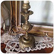 Винтаж ручной работы. Ярмарка Мастеров - ручная работа Старинный бронзовый подсвечник. Handmade.