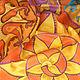 Шали, палантины ручной работы. Ярмарка Мастеров - ручная работа. Купить Платок батик. Платок шелк.  батик платок. шелковый. Золотое солнце. Handmade.